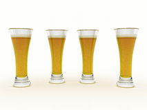 Beer In Glass Royalty Free Stock Photo