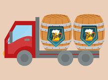 Beer industry design. Beer industry concept and delivery icons design, vector illustration 10 eps graphic vector illustration