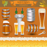 Beer infographics, set elements, for creating your own infograph Stock Photo