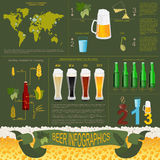 Beer infographics, set elements, for creating your own infograph Royalty Free Stock Photo