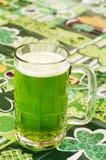 Beer on at Irish Tablecloth stock photos