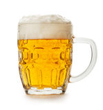 Beer isolated. Mug of beer isolated on the white background Stock Photography