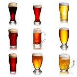 Beer isolated on a white background Stock Images