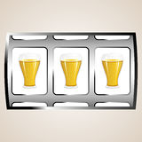 Beer jackpot Royalty Free Stock Photos