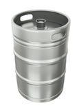 Beer keg. Over white background. 3D render Stock Photos