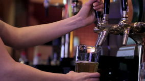 Beer from the keg stock footage
