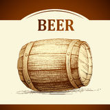 Beer keg  for label, package.vintage barrel Oktoberfest Royalty Free Stock Images