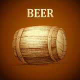 Beer keg  for label, package.vintage barrel Oktoberfest Stock Photos