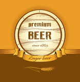Beer keg for lable, package Stock Images