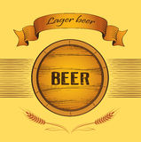 Beer keg for lable, package Royalty Free Stock Photos