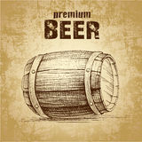 Beer keg with. Wheat for label, package Royalty Free Illustration