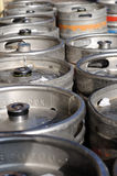 Beer kegs. There are some beer kegs - in the sunshine Stock Image