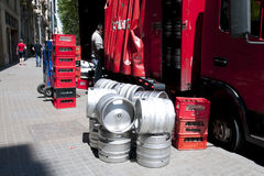 Beer Kegs Delivery stock images
