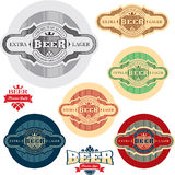 Beer label. Alcohol labels set. Stock Photos