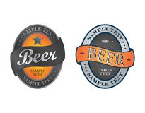 Beer label art sticker Royalty Free Stock Photo