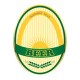 Beer Label Design. Stock Photos