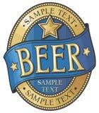 Beer label design stock illustration