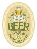 Beer label design. Lager beer label design template