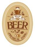 Beer label design. Dark beer label design template Stock Photography