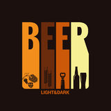 Beer label design background Royalty Free Stock Image