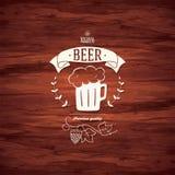 Beer label design for restaurant menu Stock Image