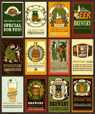 Beer label design for St. Patrick's Day. Stock Photos