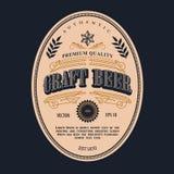 Beer label design vector antique frame vintage border western. Retro vector illustration Royalty Free Stock Image