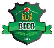 Beer label design Royalty Free Stock Image