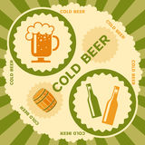 Beer label design Royalty Free Stock Photography