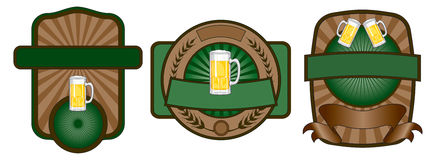 Beer Label Emblem Set Royalty Free Stock Images