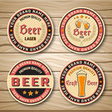Beer Label Or Emblem Set Royalty Free Stock Photography