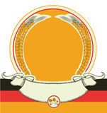Beer label with German flag.Vector oktoberfest sym Royalty Free Stock Image