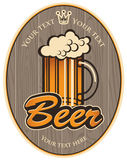 Beer label Stock Photography