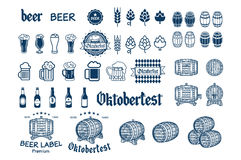 Beer Label and Logos vector drink icon Stock Image