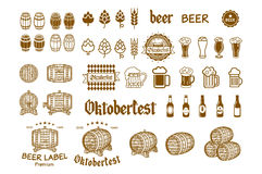 Beer Label and Logos vector drink icon Royalty Free Stock Photography