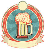 Beer label on old paper texture Stock Photography