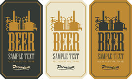 Beer label set Royalty Free Stock Photos