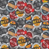 Beer label sticker Stock Photos