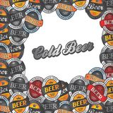 Beer label sticker Royalty Free Stock Photo