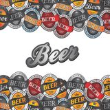Beer label sticker Royalty Free Stock Photography