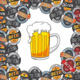 Beer label sticker Stock Photo