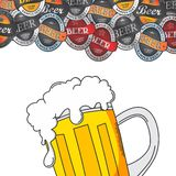 Beer label sticker Stock Image