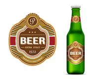 Beer label template Stock Photography