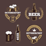 Beer label templates for beer house, brewing company, pub and bar. Beer logo, icon beverage beer bottle, brewery beer oktoberfest beer, company brewing Royalty Free Stock Images