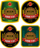 Beer labels Stock Images
