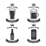 Beer labels Royalty Free Stock Photos