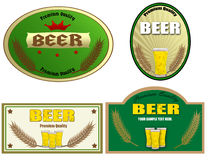 Beer labels design Stock Image