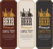 Beer labels. With the machine to make beer stock illustration