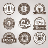 Beer labels set black Royalty Free Stock Image