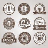 Beer labels set black Royalty Free Stock Image